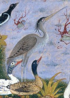 """Detail from a painting by Habiballah of Sava 