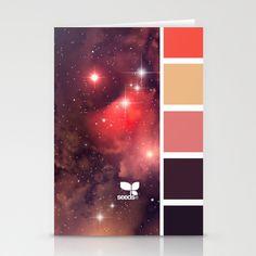 { nebula hues } Stationery Cards