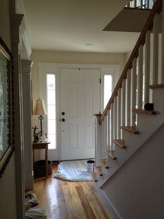 interior front door, before and after