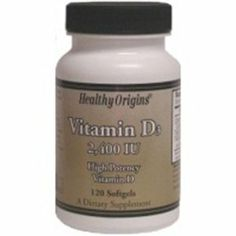 Vitamin D3-2400IU 120 Softgels by Healthy Origins. $5.08. 120 Servings Per Container. 120 Softgels. Serving Size: 1 softgel. The two forms of Vitamin D supplements are D2 and the more potent D3. Health Origins Vitamin D3 2,400 is key nutrient manufactured in a highly absorbable liquid softgel from. Vitamin D3 is synthesized in the body from sunlight and only a small amount can be obtained from food. The winter season and most all sunblock products inhibit the ...
