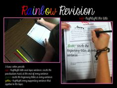 Rainbow Revision -- A fantastic technique for breaking down revising into easy-to-follow steps!