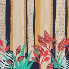 "337 Likes, 5 Comments - Raquel Martín (@raichels_) on Instagram: ""Good night! #nightforest #detail #print #botanical #night #forest #illustration #shop…"""