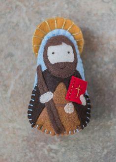 St peter felt saint doll catholic toys felt doll easter basket st james felt doll catholic gifts mass bag by mylittlefeltfriends negle Images