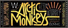 Arctic Monkeys Concert Ticket Design on Behance