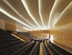 OAB – Office of Architecture in Barcelona Auditorium Architecture, Auditorium Design, Spanish Architecture, Contemporary Architecture, Hall Design, Floor Design, Ceiling Design, Lounges, Bagan