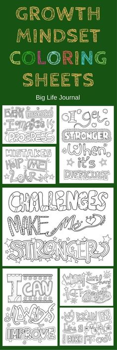 Growth Mindset Coloring Sheets Growth mindset printable coloring sheets for kids.Growth mindset printable coloring sheets for kids. Social Emotional Learning, Social Skills, Coloring Sheets For Kids, Colouring Sheets, Kids Coloring, Adult Coloring, Visual Thinking, School Social Work, Life Journal