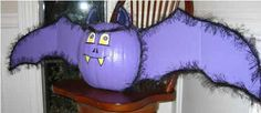 purple pumpkin paint   40 Halloween Decorations Lightening Halloween Decorating Ideas with ...