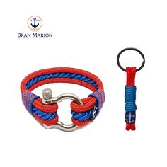 Bran Marion Red and Blue Nautical Bracelet and Keychain sold by Bran Marion. Shop more products from Bran Marion on Storenvy, the home of independent small businesses all over the world. Nautical Bracelet, Nautical Jewelry, Red And Blue Make, Marine Rope, Nautical Fashion, Everyday Look, Handmade Bracelets, Jewelry Collection, Sailors