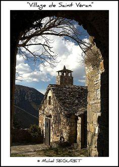 Village de Saint Veran, Gorges de la Dourbie / Aveyron / France