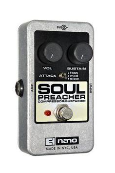 Electro-Harmonix Soul Preacher Compressor/Sustainer Pedal by Electro-Harmonix. $104.70