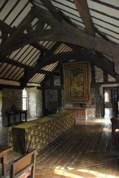 Interesting roof beam structure. Photos of Gwydir Castle, Llanrwst - Attraction Images - TripAdvisor