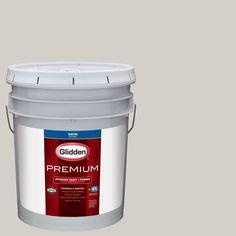 Glidden Premium 5 gal. #HDGCN02 Polished Limestone Satin Interior Paint with Primer