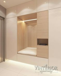 2 One Bedroom Apartments with Modern Color Schemes A one-bedroom apartment can be perfect for a single person, or a young couple. It leaves its occupants with just enough space to live comfortably and entertain. Home Entrance Decor, House Entrance, Home Decor, Entrance Ideas, Shoe Cabinet Design, Garderobe Design, Flur Design, Modern Color Schemes, Modern Colors
