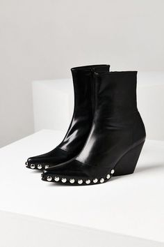 Black studded booties. Jeffrey Campbell Walton Boot