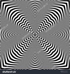 Abstract op art pattern. Vector illustration.