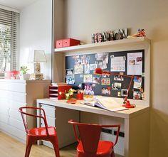 15 ideas para crear una zona de estudio · ElMueble.com · Niños Childrens Bedroom Decor, Kids Bedroom, Kids Rooms, Study Areas, Nursery Inspiration, Guest Bedrooms, Ideal Home, Office Desk, Furniture