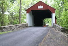 Drive through Cabin Run Covered Bridge and experience this historic covered bridge, built in 1871 and crosses Cabin Run Creek.