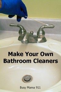 Make Your Own Bathroom Cleaners