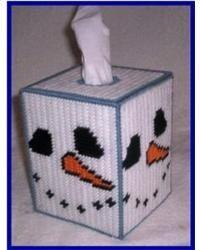 Snowman Kitchen Tissue Box Cover