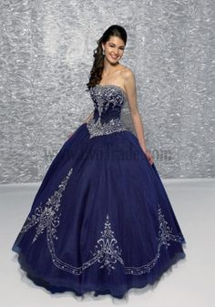 Designer Special Dress For Occasion Dark Navy Purple Organza Satin A-line Ball Gown Appliques Tiered Strapless Sweetheart 2012 Special Occasion Dresses