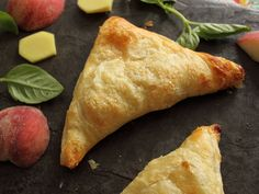 Home Skillet - Cooking Blog: Peach, Basil, Ginger, and Brie Puffs