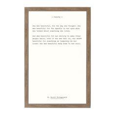 Petal Lane Beauty - F. Scott Fitzgerald, Rustic Brown Frame, Magnetic Memo Board - The Home Depot Magnetic Memo Board, Magnetic Chalkboard, Magnetic Wall, Magnet Boards, Mail Storage, Calendar Board, Wall Decor Quotes, Scott Fitzgerald, Dry Erase Board