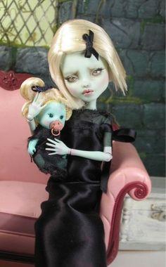 doll repaint custom ooak monster high