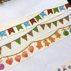 Christmas Garland - Lights, Ornaments, Baubles, Flags, Buntings Washi Tape Sample