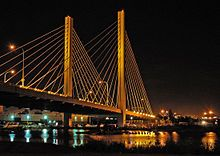 Cable-stayed Bridge over Tacoma's Thea Foss Waterway.