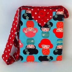 Handbag for Girls, Asian girls Tote, Small Cotton Fabric Purse, Cute Carryall Bag, fashionable crossbody