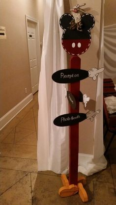 Amazing Mickey sign used at my sisters wedding!  It was hand made by my mom n law.