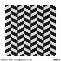 Black and White Herringbone Trivets