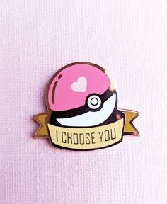 Pokemon I Choose You Hard Enamel Pin – Ocean Trash Pokemon Pins, Jacket Pins, Cool Pins, Hard Enamel Pin, Pin Enamel, 3d Prints, Pin And Patches, Stickers, Pin Badges
