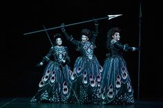 Young Artists Lacy Sauter, Carla Jablonski and Cynthia Cook sang with a malevolent edge perfect for the three ladies that try to lead Tamino astray. The Magic Flute.