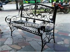 Decorative Wrought Iron Park Bench for Outdoor Use $50~$300