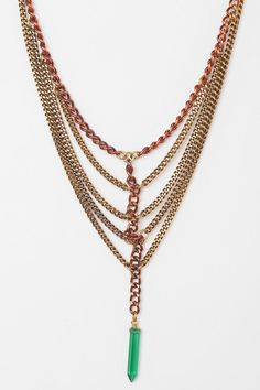 Vanessa Mooney Vignette Necklace  UrbanOutfitters  (Damn, this is expensive for metal and stone!)