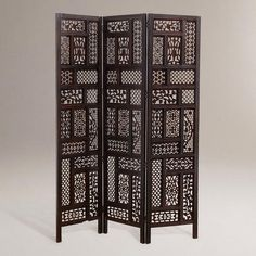 One of my favorite discoveries at WorldMarket.com: Rena Carved Screen: I want this as a headboard or an accent behind my bed: truly a taste of India