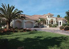 Spectacular Mediterranean Villa - 33550EB   Florida, Mediterranean, Spanish, Exclusive, Luxury, Photo Gallery, 1st Floor Master Suite, CAD Available, Den-Office-Library-Study, MBR Sitting Area, PDF, Split Bedrooms   Architectural Designs