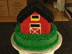 how to make a 3d barn cake - Google Search