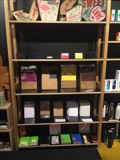 Daycraft diaries, notebooks and accessories on display at Magnation Emporium in Melbourne. Bookstores, Outlets, Diaries, Notebooks, Melbourne, Retail, Shelves, Display, Accessories