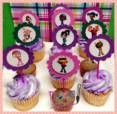Vanellope Sugar Rush, Wreck It Ralph Glitter Cupcake Toppers, Ralph el Demoledor - 12 Ready to Ship on Etsy, $10.99