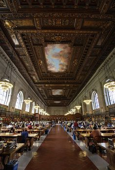 City libraries. Rose Reading Room, New York Public Library