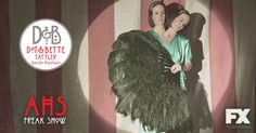 Meet Dot and Bette. The fearsome twins. #AmericanHorrorStory Freak Show premieres Weds Oct 8. #WirSindAlleFreaks