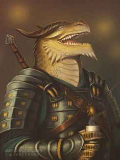 M gold dragonborn fighter paladin