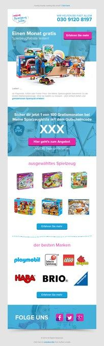 Newsletter design for onlineshop by MT&MN Facebook Cover Design, Newsletter Design, Playmobil, Email Newsletter Design