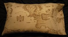 Middle Earth Map Pillowcase by 8bitHealey on Etsy