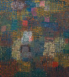 Paul Klee (1879-1940) posteriores Colores de trabajo desde la distancia (1932) óleo sobre cartón 43,1 x 48,5 cm El Museo de Israel, Jerusalén