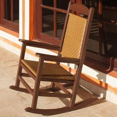 POLYWOOD Presidential Outdoor Rocking Chair With Woven Seat - R200