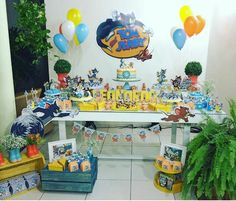Festa Tom&Jerry Tommy Jerry, Tom Und Jerry, Birthday Decorations, Birthday Party Themes, 1st Birthday Photoshoot, Toms, Third Birthday, Party Planning, First Birthdays
