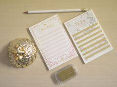 Blush & Gold little planners